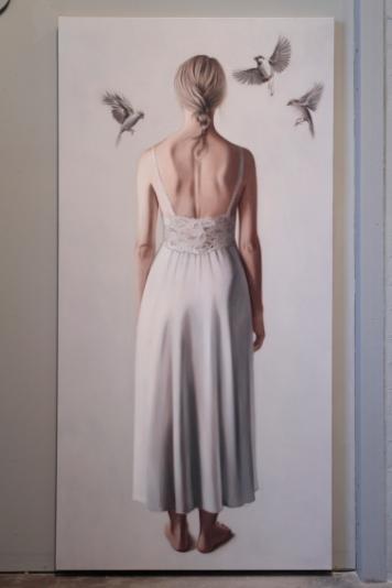 Erika Gofton _Quiet Voice 1_91 x 185cm_Oil on Canvas_2010
