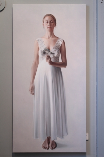 Erika Gofton _Quiet Voice 2_91 x 185cm_Oil on Canvas_2010