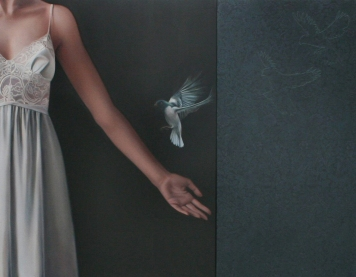 Erika_Gofton_Quiver (diptych)_Oil on Canvas with handstitching_92x107cm