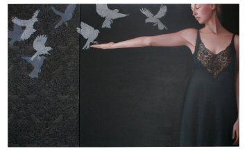 Erika_Gofton_Whisper (dyptich)_Oil on Canvas_102 x 163cm