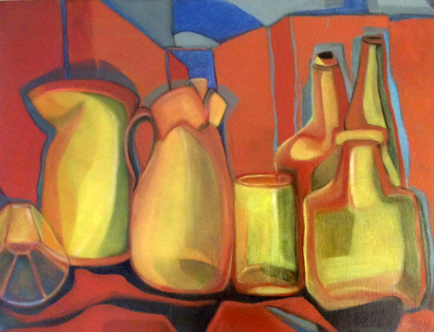 Karen Gingell's prize winning artwork from the Melbourne Show Art Prize, Still Life category