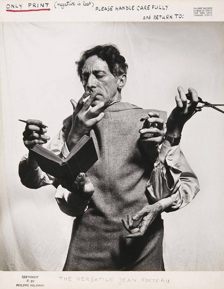 Jean Cocteau image by Philippe Halsman.