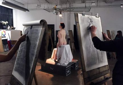 Life Drawing at The Art Room in Footscray, Melbourne.