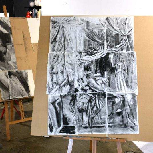 Searching the Space, a drawing workshop at The Art Room