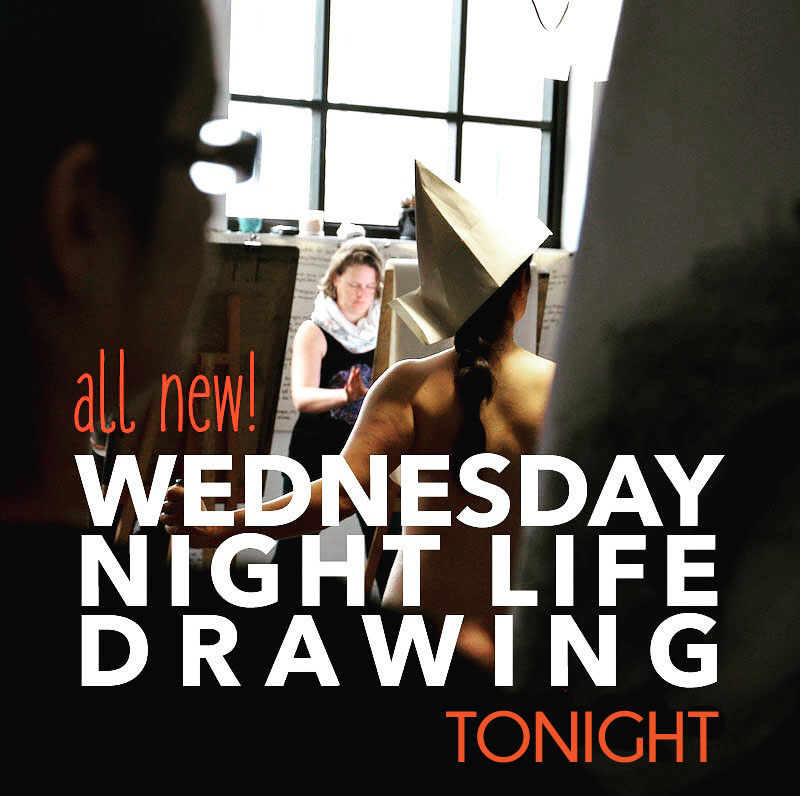 New Wednesday night Life Drawing at The Art Room starts tonight.