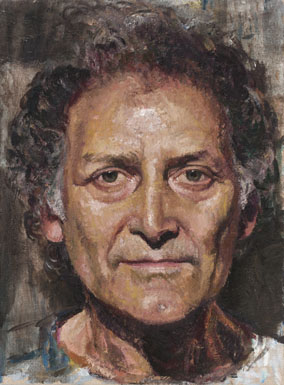 Coppersmith_Yvette_Portrait-of-Arnold-Zable_Oil-on-linen_30.3cmx22.5cm_2013