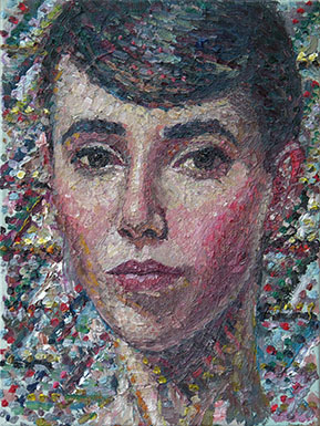 Coppersmith_Yvette_Self-Portrait-as-a-Mosaic_oil-on-linen_30cmx23cm_2014_2